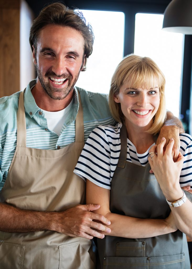 Husband and Wife cooking gut healthy meal